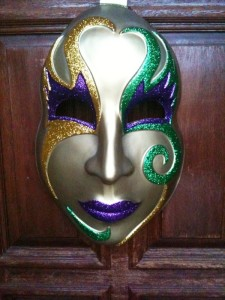 Mardi Gras Mask on the Front Door