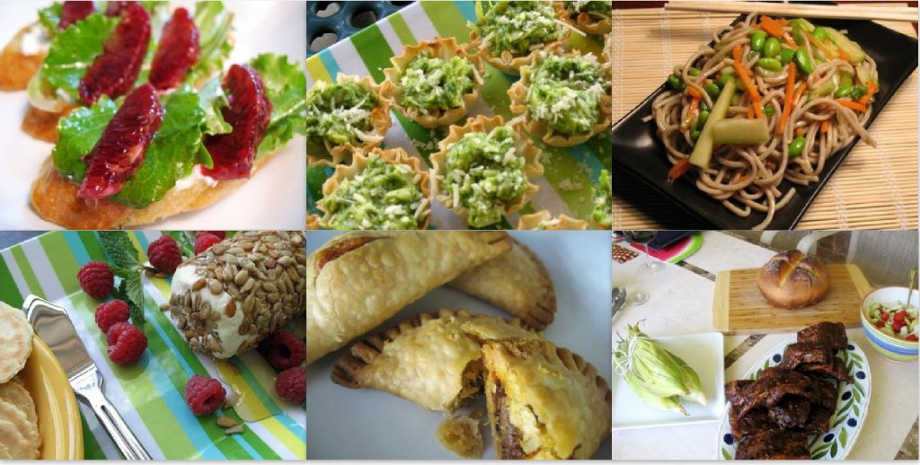 Images of food for summer and the 4th of July