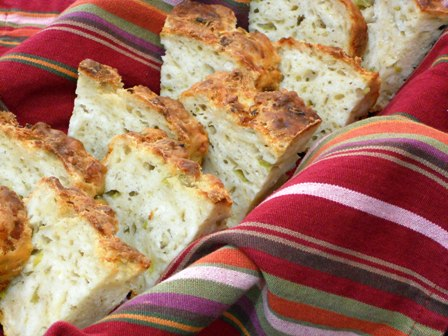 Green Chile Cheese Beer Bread
