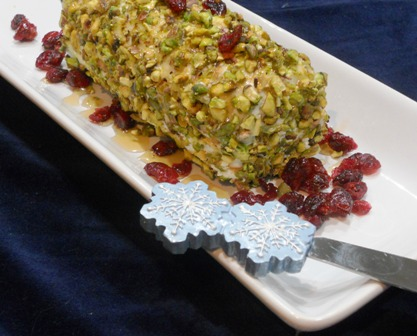 Easy Appetizers for a Party: Pistachio-Crusted Goat Cheese