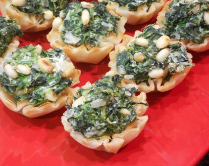 12 Days of Easy Appetizers for a Party: Spinach Fillo Cups