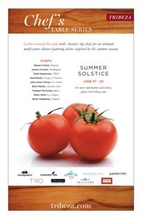 TRIBEZA Chef's Table Flyer