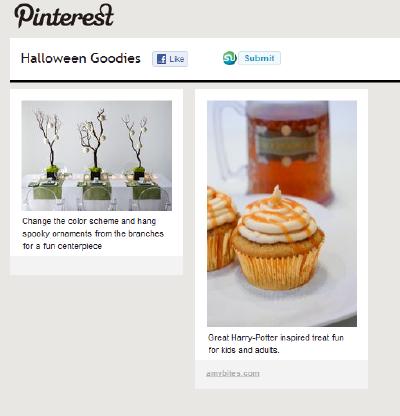 Halloween Pinboard on Pinterest