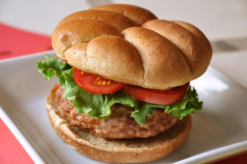 Spicy Cheese-Stuffed Pork and Chorizo Burger