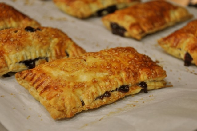 Cherry Hand Pies hot from the oven
