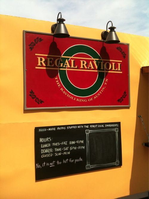 Regal Ravioli - Trailer Sign