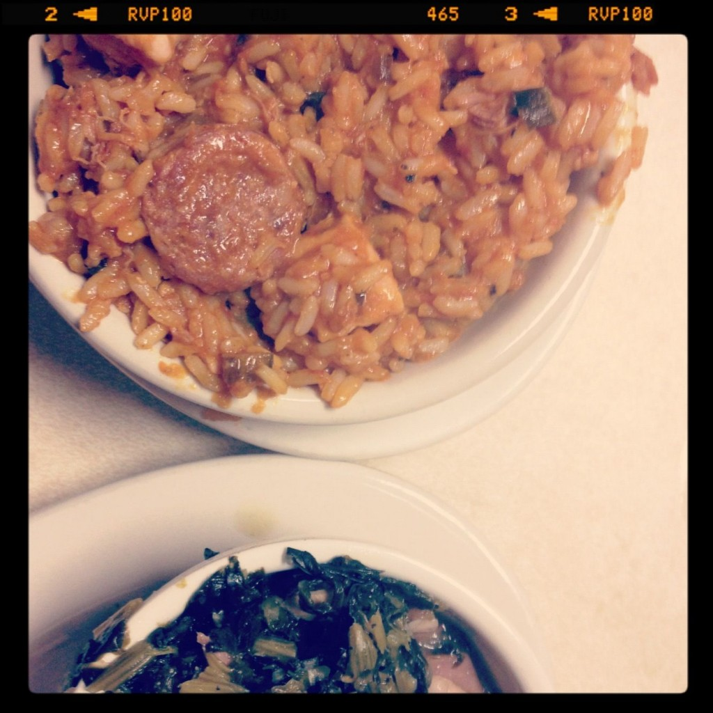 Jambalaya and Collards at Mother's in New Orleans