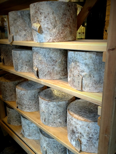 Wheels of Cheese at the Neal's Yard Shop, Borough Market, London
